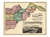 1875, County Sectional Map, Missouri, United States Giclee Print
