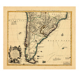 1721, Argentina, Chile, South America Giclee Print