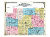 1917, County Outline Map, Missouri, United States Giclee Print