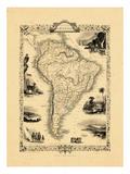1848, South America Giclee Print