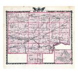 1876, Bureau County Map, Henry, Illinois, United States Giclee Print