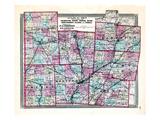 1868, Champaign, Darke, Green, Miami, Mongomery, Clarke, Preble, Ohio, United States Giclee Print