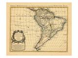 1721, América del Sur Lámina giclée