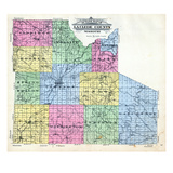 1912, La Clede County Outline Map, Missouri, United States Giclee Print