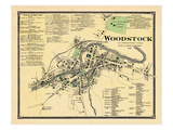 1869, Woodstock Town, Vermont, United States Giclee Print