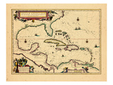 1640, West Indies, Florida, Central America Giclee Print