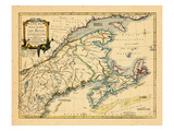 1755, New Brunswick, Nova Scotia, Prince Edward Island, Maine Massachusetts Giclee Print