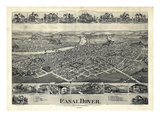 1899, Canal Dover Bird's Eye View, Ohio, United States Giclee Print