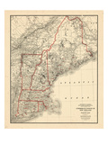 1949, Connecticut, Maine, Massachusetts, New Hampshire, Rhode Island, Vermont Giclee Print