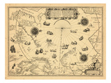 1598, Greenland, Finland, Iceland, Norway, Russia, Sweden, North Pole, Arctic Ocean Giclee Print