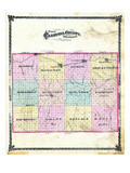 1876, Caldwell County Map, Missouri, United States Giclee Print