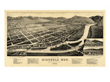 1884, Missoula Bird's Eye View, Montana, United States Giclee Print