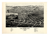 1882, Las Vegas Bird's Eye View, New Mexico, United States Giclee Print