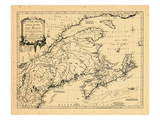 1755, New Brunswick, Massachusetts, Nova Scotia, Maine, Newfoundland and Labrador, New Hampshire Giclee Print
