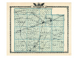 1876, Effingham County Map, Illinois, United States Giclee Print