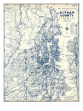 1973, Kitsap County Map, Washington, United States Giclee Print