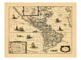 1652, North America, South America Giclee Print