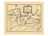 1755, Illinois, Indiana, Michigan, Minnesota, New York, Ohio, Ontario, Pennsylvania, Wisconsin Reproduction procédé giclée