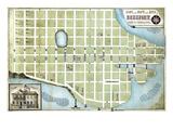 186x, Beaufort City Plot Map, South Carolina, United States Giclee Print