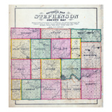 1871, Stephenson County Sectional Map, Illinois, United States Giclee Print