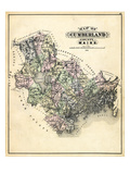 1884, Cumberland County Map, Maine, United States Giclee Print