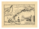 1707, Connecticut, Maine, Massachusetts, New Hampshire, Rhode Island, Vermont Giclee Print