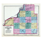 1873, Tazewell County Sectional Map, Illinois, United States Giclee Print