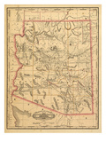 1887, Arizona State Map, United States Giclee Print