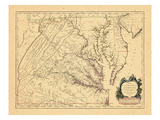 1755, Maryland, Virginia Giclee Print