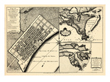1720, New Orleans Bird's Eye View, Louisiana, United States Giclee Print