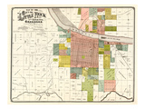 1888, Little Rock City Map, Arkansas, United States Giclée-Druck