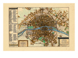 1705, Paris, France Giclee Print