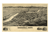 1891, Missoula Bird's Eye View, Montana, United States Giclee Print