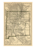 1879, New Mexico State Map, New Mexico, United States Giclee Print