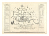 1788, Charleston Ichnography Map, South Carolina, United States Giclee Print