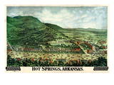 1890, Hot Springs Bird's Eye View, Arkansas, United States Giclee Print