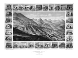 1861, Virginia City Bird's Eye View, Nevada, United States Giclee Print