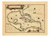 1652, West Indies Wydruk giclee