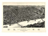 1887, Little Rock Bird's Eye View, Arkansas, United States Giclee Print