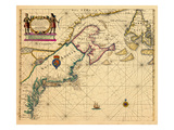 1685, Connecticut, Maine, Maryland, Massachusetts, New Brunswick, New Hampshire, Newfoundland Giclee Print