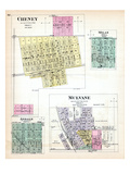1887, Cheney, Milan, Andale, Mulvane, Kansas, United States Giclee Print