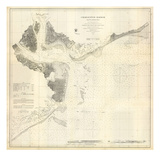 1866, Charleston Harbor Chart South Carolina, South Carolina, United States Giclee Print