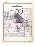 1880, Anderson and Vicinity, Indiana, United States Giclee Print