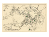 1876, East Weymouth Town, Massachusetts, United States Giclee Print