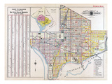 1915, Index Map Volume 2, District of Columbia, United States Giclee Print