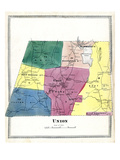 1869, Union, Connecticut, United States Giclee Print