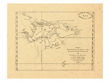 1771, A Chart of Hawkins's Maidenland, discovered by Sir Richard Hawkins, Falkland Islands Giclee Print