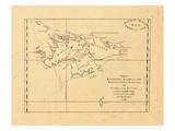 1771, Una mapa de Hawkins's Maidenland, descubierta por Sir Richard Hawkins, las islas Malvinas Lámina giclée