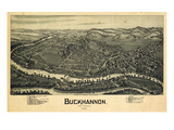 1900, Buckhannon Bird's Eye View, West Virginia, United States Giclee Print