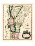 1810s, Vermont State Map, Vermont, United States Giclee Print